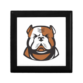 American Bulldog Head Front Retro Gift Box