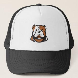 American Bulldog Head Front Retro Trucker Hat