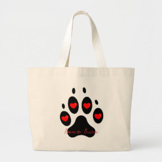 American Bulldog Large Tote Bag