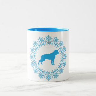 American Bulldog Merry Christmas Coffee Mug