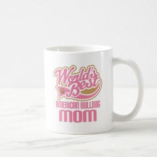 American Bulldog Mom Dog Breed Gift Basic White Mug