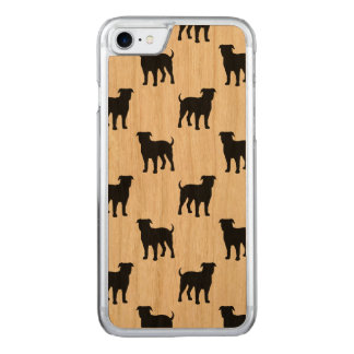 American Bulldog Silhouettes Pattern Carved iPhone 8/7 Case