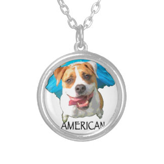 american bulldog silver plated necklace