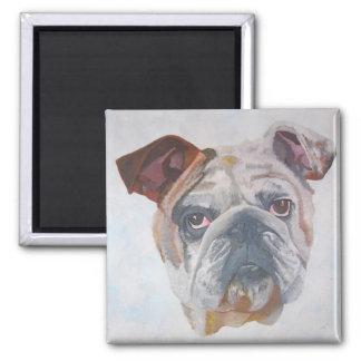 American Bulldog Square Magnet