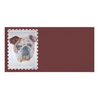 American Bulldog Stamp Motif Picture Card