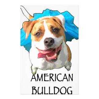 american bulldog stationery
