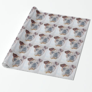 American Bulldog Wrapping Paper