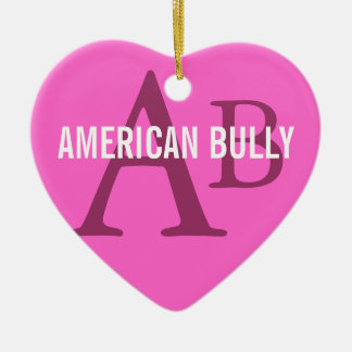American Bully Breed Monogram Ceramic Ornament