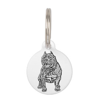 American Bully dog Pet Name Tag