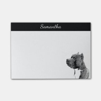 American bully dog post it notes
