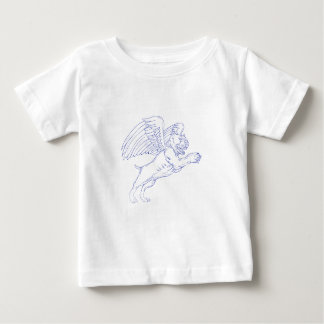 American Bully With Wings Drawing Baby T-Shirt
