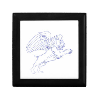American Bully With Wings Drawing Gift Box
