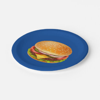 American Burger 7 Inch Paper Plate