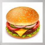 American Burger Poster