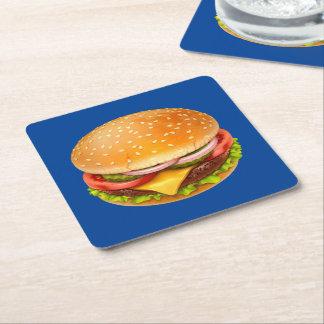 American Burger Square Paper Coaster