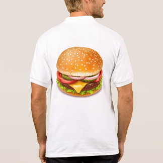 American Burger White Polo Shirt