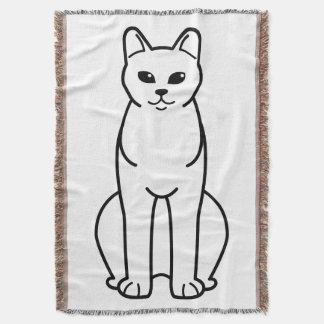 American Burmese Cat Cartoon Throw Blanket