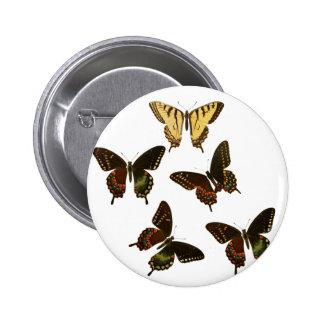 American Butterflies 2 Inch Round Button