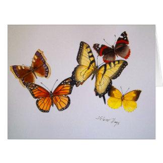 American Butterflies Big Greeting Card