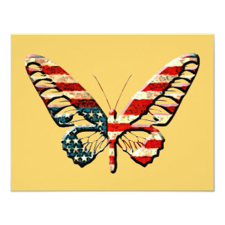 """American Butterfly 4.25"""" X 5.5"""" Invitation Card"""