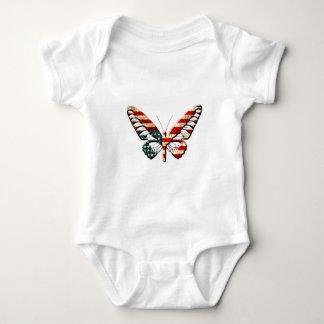 American Butterfly Baby Bodysuit
