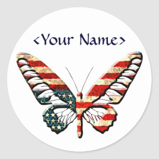 American Butterfly Classic Round Sticker