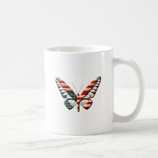 American Butterfly Classic White Coffee Mug