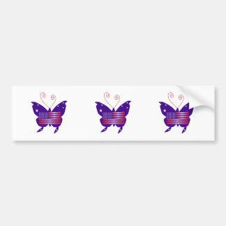 American Butterfly Diva Bumper Sticker