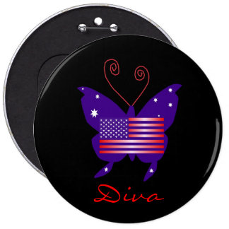 American Butterfly Diva Buttons