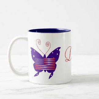 American Butterfly Diva Society Two-Tone Coffee Mug
