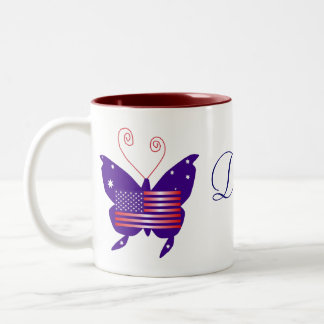 American Butterfly Diva Society Two-Tone Mug
