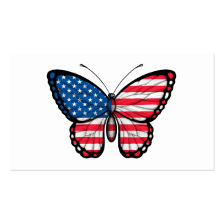American Butterfly Flag Business Card