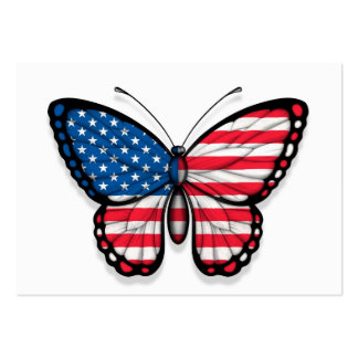 American Butterfly Flag Business Cards