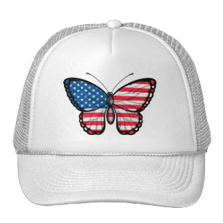 American Butterfly Flag Hat