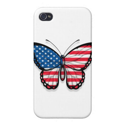 American Butterfly Flag iPhone 4 Case