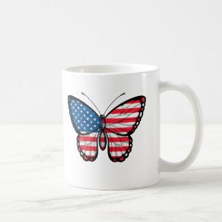 American Butterfly Flag Coffee Mug