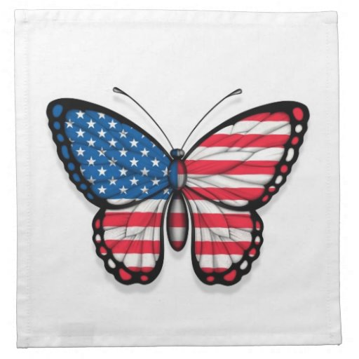 American Butterfly Flag Napkin