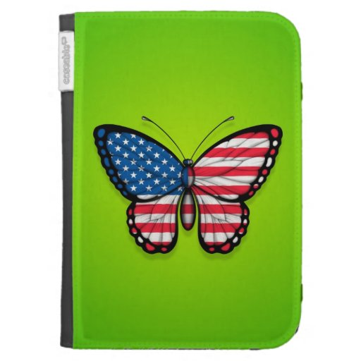 American Butterfly Flag on Green Kindle 3 Cover