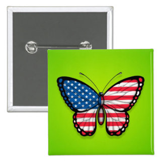 American Butterfly Flag on Green Pins
