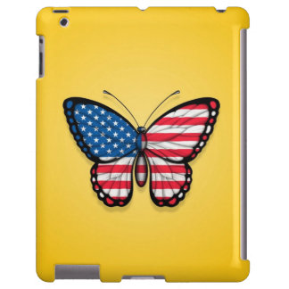 American Butterfly Flag on Yellow