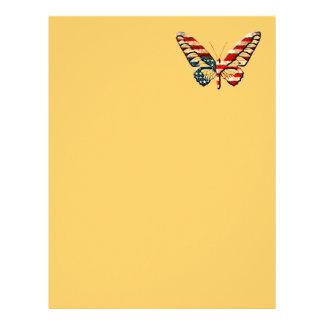 American Butterfly Letterhead Design