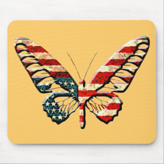 American Butterfly Mouse Pad