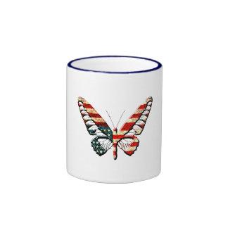 American Butterfly Ringer Coffee Mug
