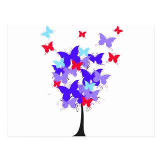 American Butterfly Tree Postcard