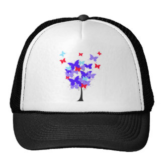 American Butterfly Tree Trucker Hat