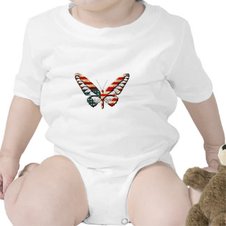 American Butterfly Rompers