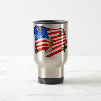 American Butterflys 15 Oz Stainless Steel Travel Mug