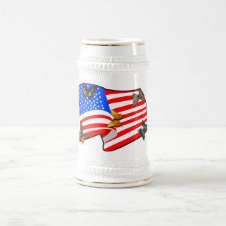 American Butterflys 18 Oz Beer Stein