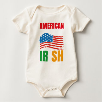 American by birth IRISH by the grace of GOD Baby Bodysuit