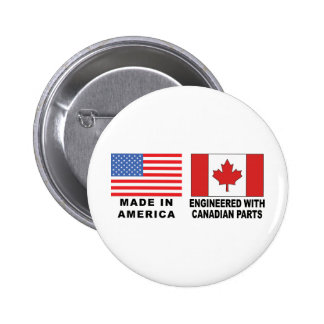 American Canadian 2 Inch Round Button